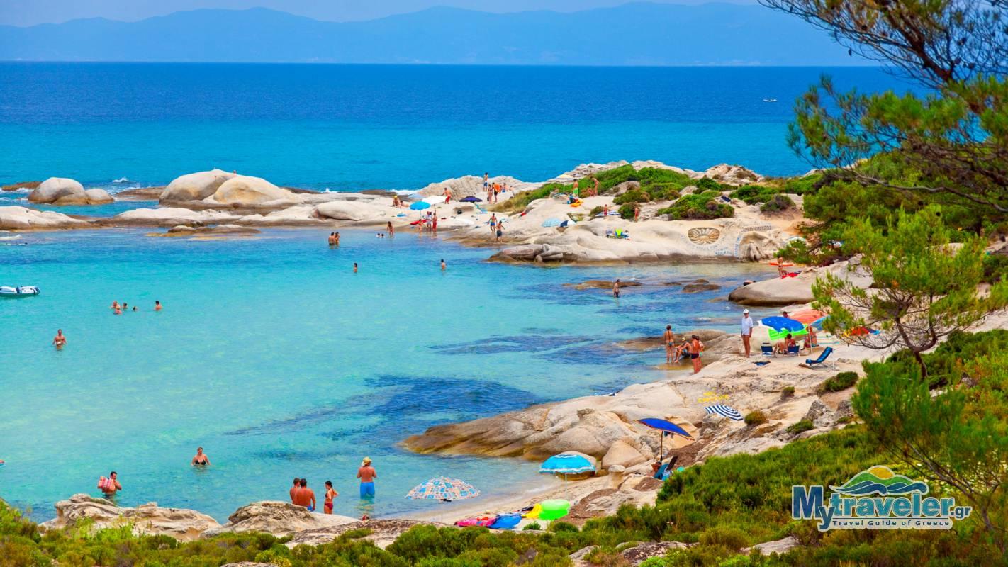 Orange Beach Or Portokali Kavourotrypes Sithonia Mytraveler Gr